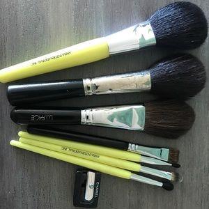 Chanel sharpner and various size make up brushes